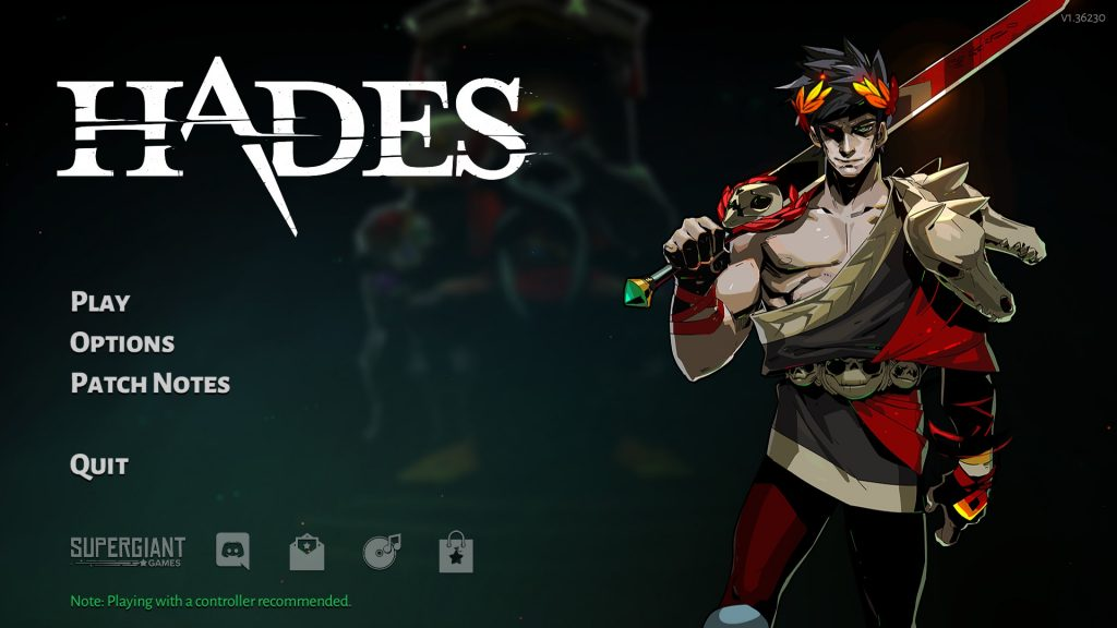 Hades Title Screen